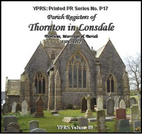 Thornton in Lonsdale 1576 - 1812 (P.17)